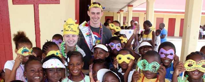 Mardi Gras at Summer Camp/ belize